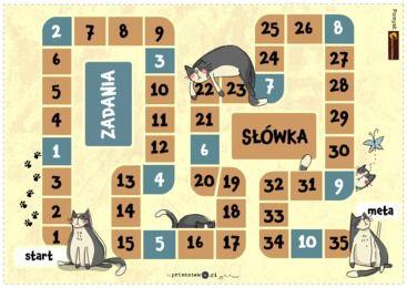 Gra planszowa do utrwalania prawidłowej wymowy głosek tylnojęzykowych [k] i [g] - Printoteka.pl