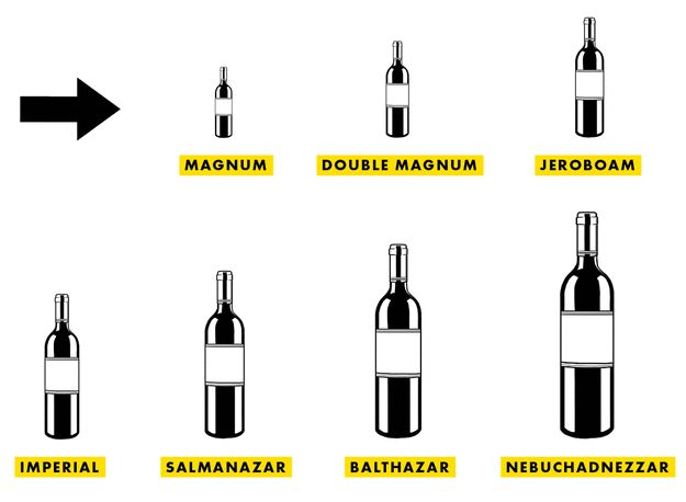 The Guide to Ridiculously Large Bottles of Wine, from Magnums to Nebuchadnezzar #Wine #Wineeducation