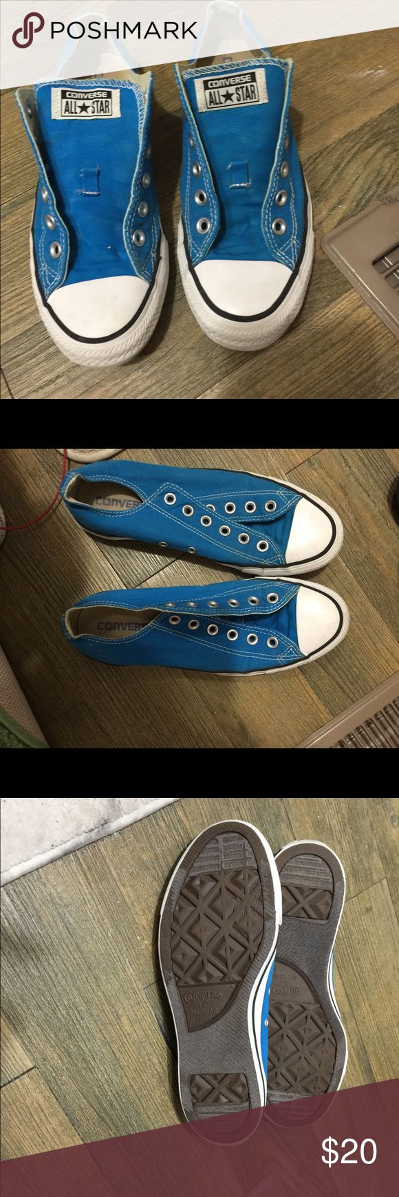 Converse Worn but in great condition.. no laces but you can buy shoe laces all day long for cheap Converse Shoes Sneakers