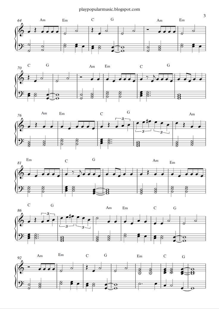 23 best Piano Music images on Pinterest | Sheet music, Piano sheet ...