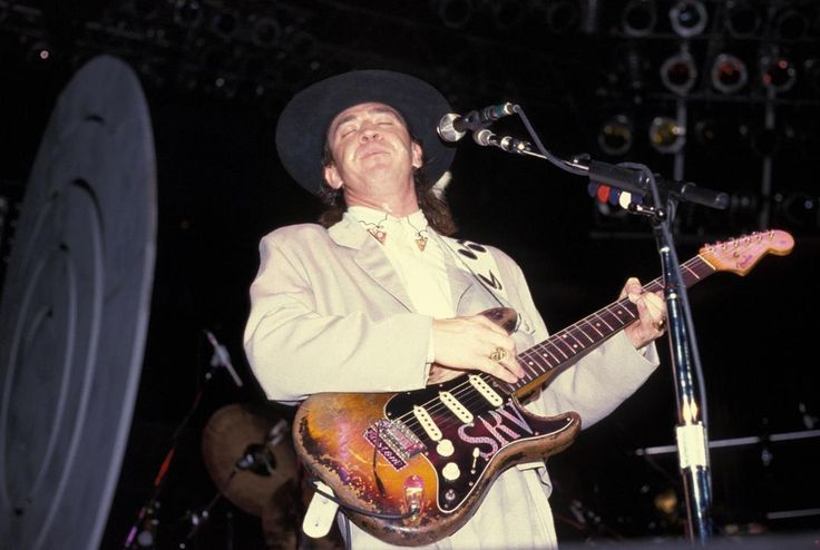 Remembering Stevie Ray Vaughan (October 3, 1954 - August 27, 1990). How are you celebrating his musical legacy today?   Photo: Getty images     #stevierayvaughan #srv #blues #bluesrock #texas #texasblues #legend #master #birthday #hbd #stevie #fender #fenderstratocaster #stratocaster