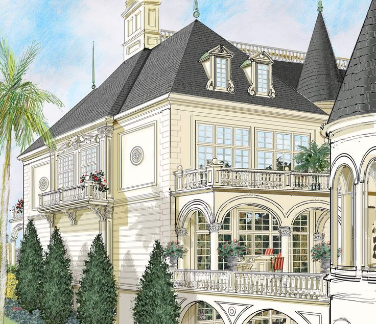 16 wonderful french chateau architecture house plans - 736×635