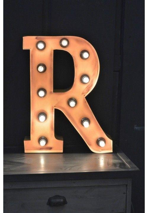 Lettre lumineuse a r b objets super chouette pinterest a r - Lettre lumineuse vintage ...