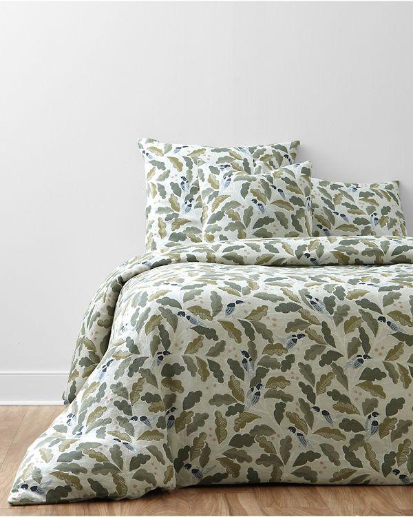 Little Birds Relaxed Linen Bedding And Pillow Cover Garnet Hill Master Bedroom Inspiration Linen Duvet Covers California King Duvet Cover