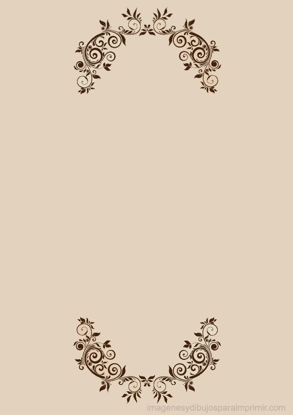 Hojas decoradas para imprimir con flores elegantes