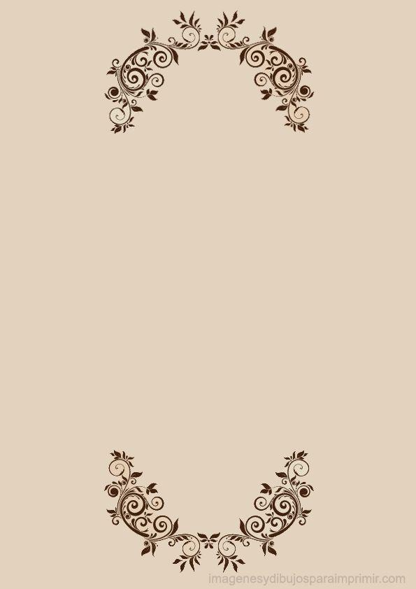 Hojas decoradas para imprimir con flores elegantes                                                                                                                                                                                 Más