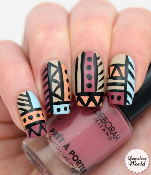 Aztec Tribal Nail Art POST YOUR FREE LISTING TODAY!   Hair News Network.  All Hair. All The Time.  http://www.HairNewsNetwork.com/