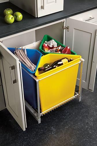 Easy Color Code Organization Tricks | Color Coded Organization: Trash and Recycle Bins