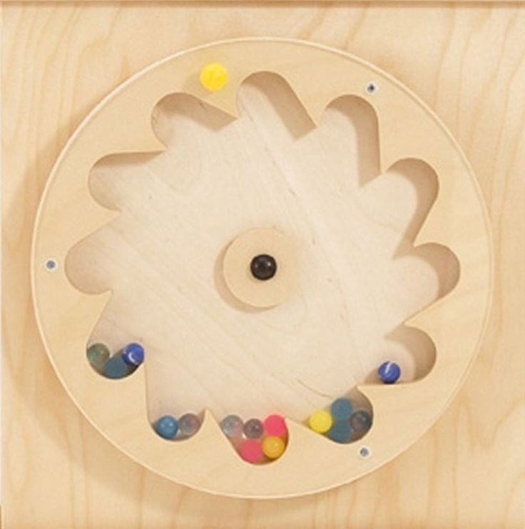 The Gear Wheel with Rubber Balls Sensory Wall Panel will be a favorite in your lobby area with the little ones. They'll turn the small handle to make the balls hop around. Don't worry, there is an acr