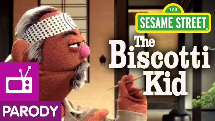 Sesame Street: Cookie's Crumby Pictures- The Biscotti Kid (Karate Kid Parody)- This is hilarious- must use with Whole Body Listening and Social Thinking!