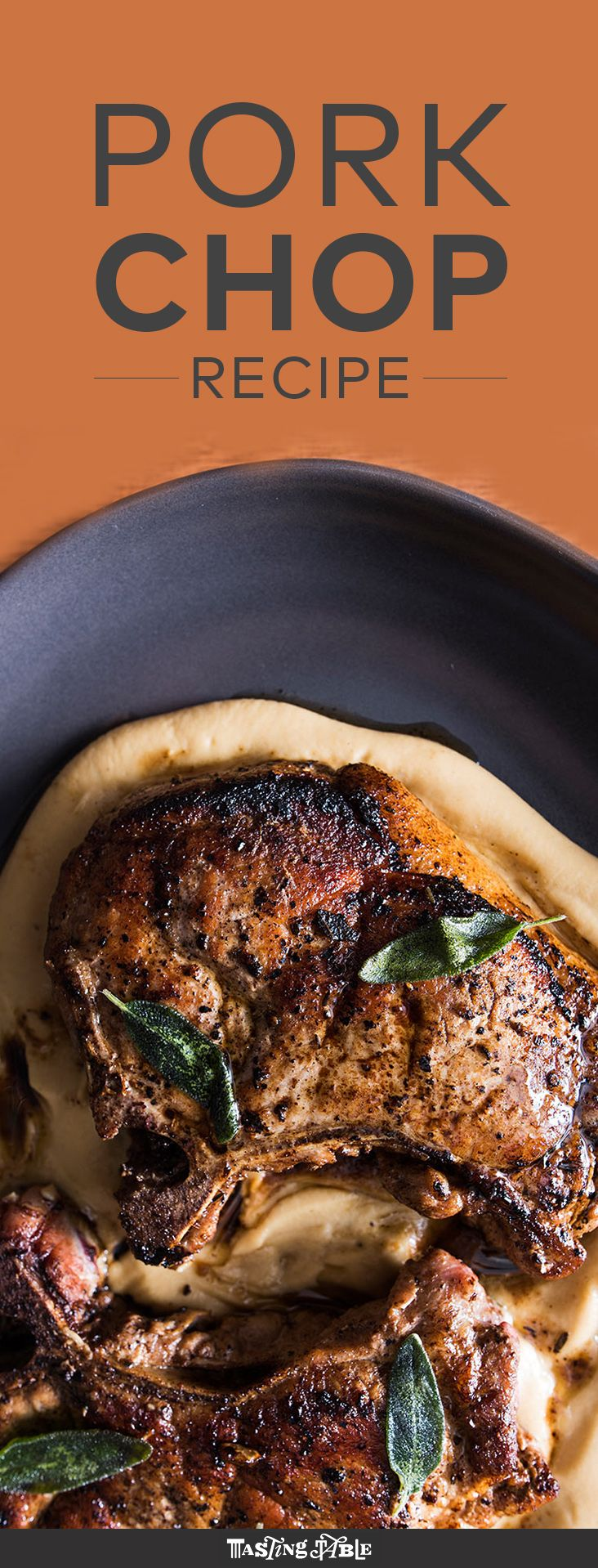 Perfect the classic pork chop, then serve it over a velvety parsnip-and-apple purée.