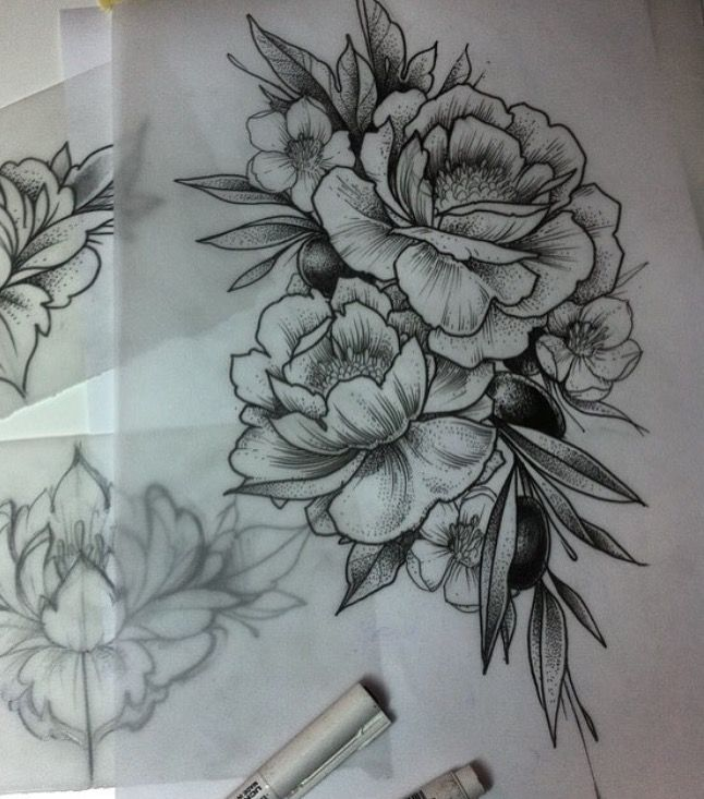 26 Peony Tattoo Designs Ideas: Pin By Rosario Lopez On Tattoo