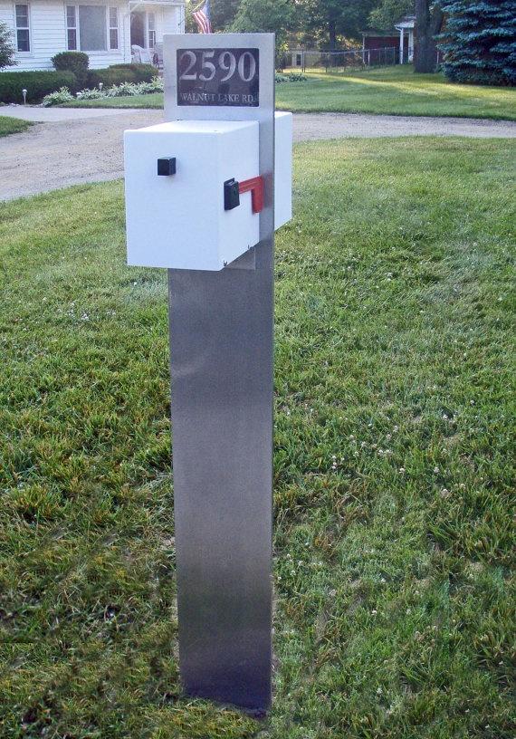 Retro Modern Mailbox by RetroHandmadeUniques on Etsy, $595.00