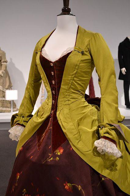 A great blog post full of awesome pictures of movie costumes from an exhibit.