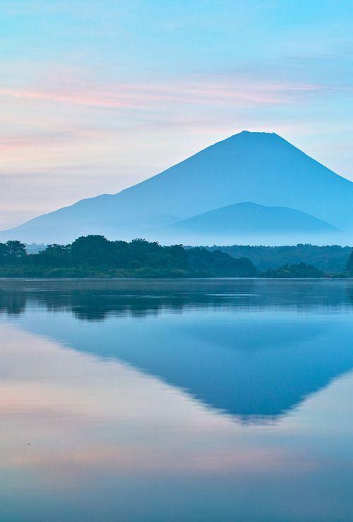 Mt. Fuji from lake Shoji