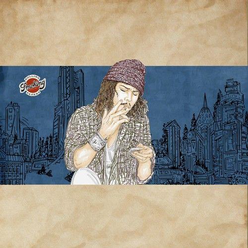 Design di DRAW YOUR OWN MR. SMOKING - one open round - one winner - no final round di lacaramella