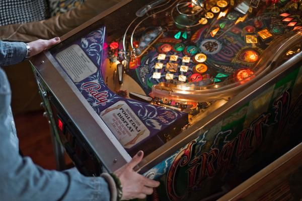 Taking a break from Little Wonder with a game of pinball