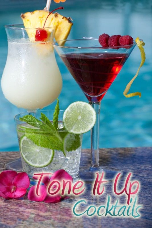 Tone it Up Cocktails! Drink something yummy, but keep that waist line slim!   I am going to try some of these out this summer! They look de-lish! ;-) @Amanda Velasquez @Emily Poffenberger