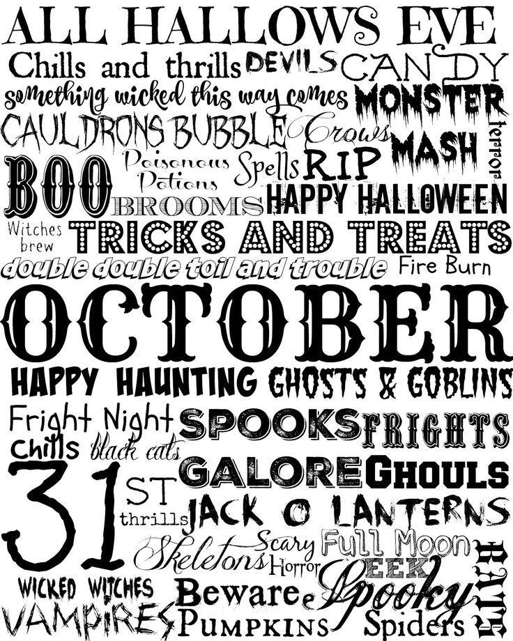 216 best Halloween Fun! images on Pinterest Desert recipes - halloween decoration printables