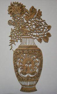 Naht Sanatı: Vazo ve Çiçekler (gürgen ağacı)