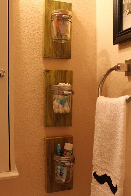 DEOCRATING WITH MASON JARS | Decorating Ideas / Small Wall Mounted Mason Jar by…
