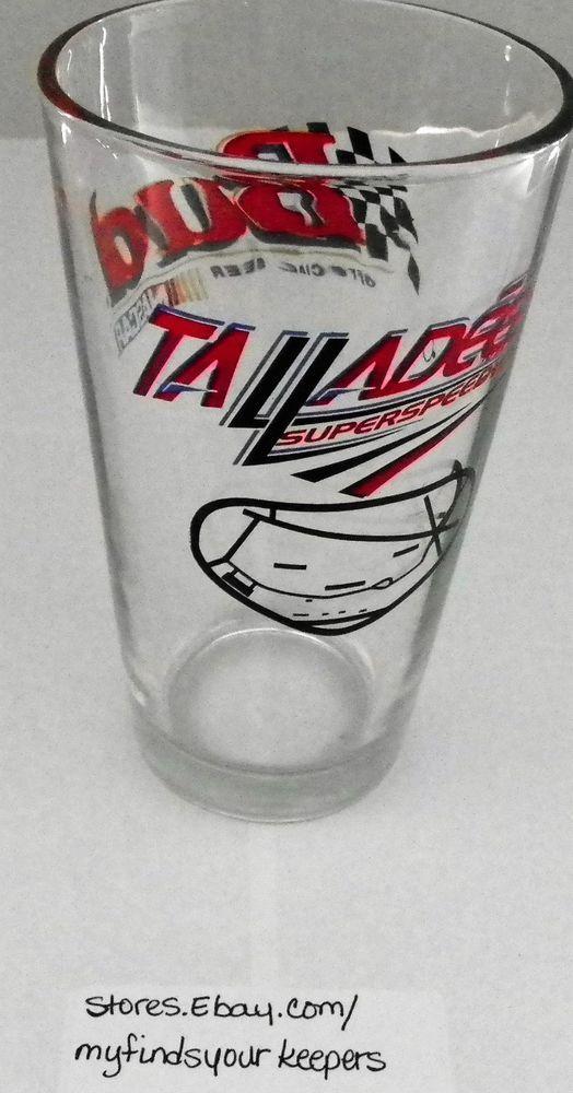 NASCAR OFFICIAL BEER BUDWEISER BUD TALLADEGA SUPER SPEEDWAY LIBBY GLASS  #Budweiser