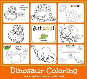 Dinosaur Coloring Pages...