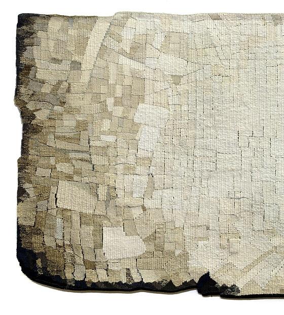 'Terra' (detail)  Sue Lawty  2004  Linen,hemp, silk  Width200 cm x height70 cm  © Sue Lawty