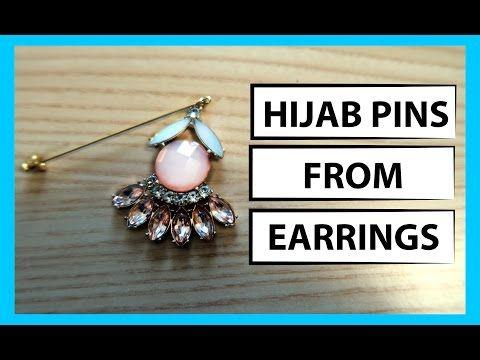 HOW TO MAKE HIJAB PINS - MAKE HIJAB PINS FROM EARRINGS - HIJAB PIN TUTORIAL - A HIJAB FASHION BLOG BY MUSKA JAHAN.