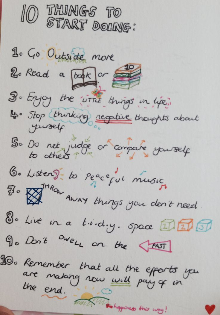 10 things to start doing to live a healthier and happier life