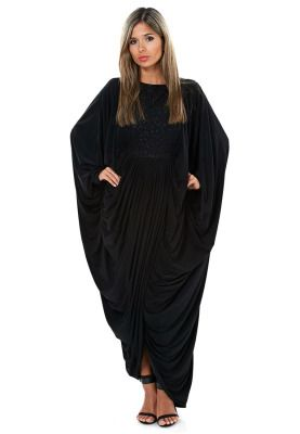 Ethnic elegance gets a whole new meaning with this abaya from Hayas Closet. Pinned via www.namshi.com