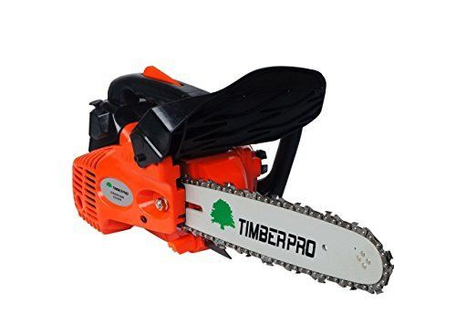 """An ideal petrol chainsaw by Timberpro for chopping up branches and cutting logs to length, ample power is provided by it's 26cc engine and 10"""" bar."""