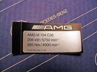 Genuine Mercedes AMG engine sticker M104 C36 for W202 C36 AMG