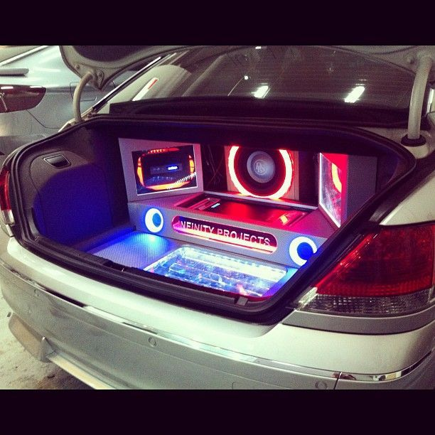 custom sound systems for cars | Super awesome! | custom trunk car audio