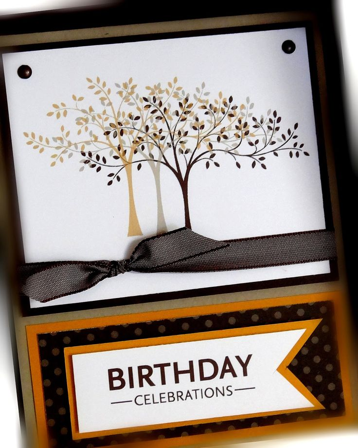 Thoughts & Prayers stamp set-like the tree stamped w/different colors - nice idea for the fall.