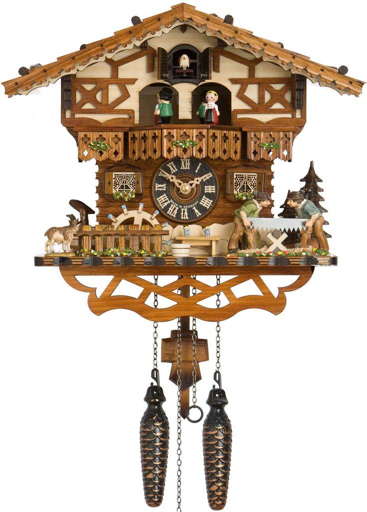 Hones Chalet Woodchoppers Dancers Quartz Cuckoo Clock 6219TQ