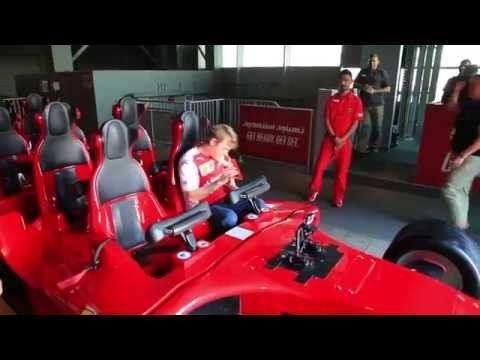 Kimi Raikkonen and Fernando Alonso dare the world's fastest rollercoaster-Formula Rossa! - YouTube