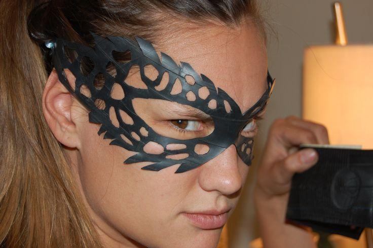 Bicycle Innertube mask!  Cool!