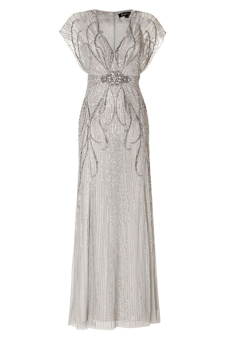 Sequin Embellished Gown in Platinum by JENNY PACKHAM: Crown Princess Victoria of Sweden