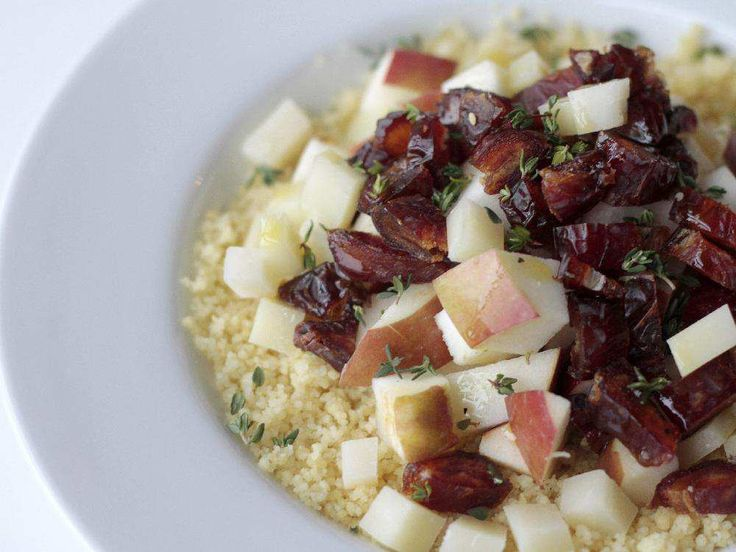 Couscous, Pecorino, Apple, Pecans and Dates salad, made from a recipe in Salad Love, a new cookbook by David Bez.
