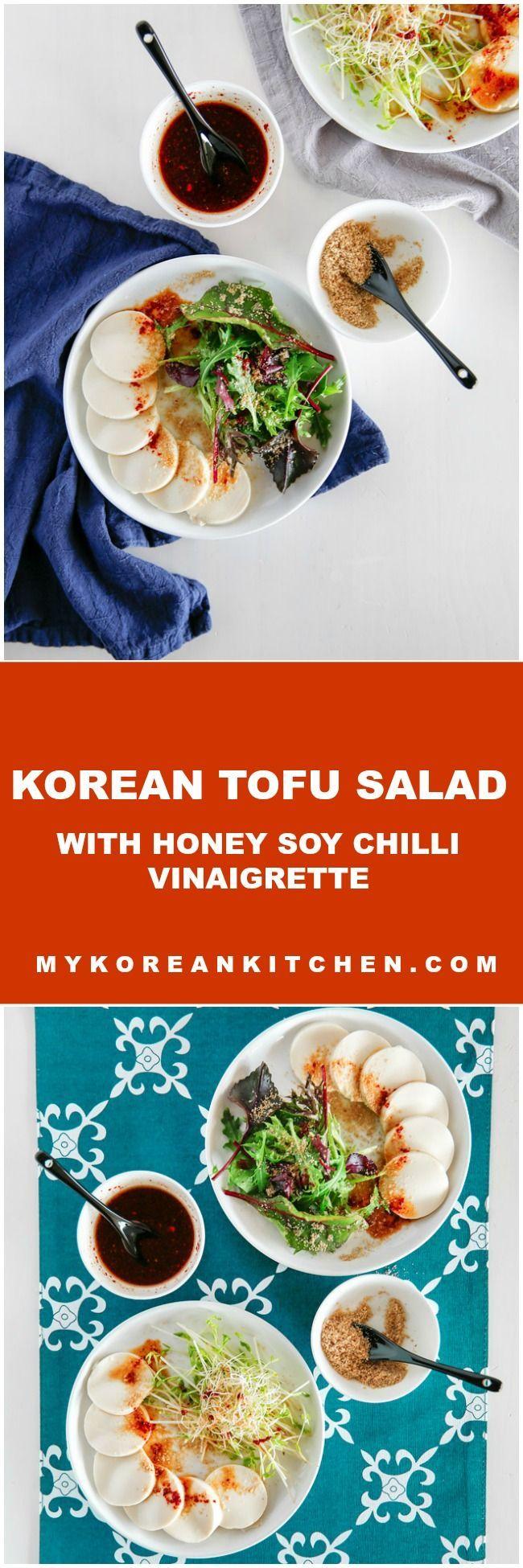 153 best korean food recipes images on pinterest korean food korean tofu salad with honey soy chilli vinaigrette forumfinder Images