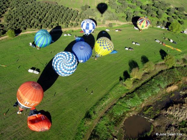 Hot air ballooning in Alentejo, Portugal