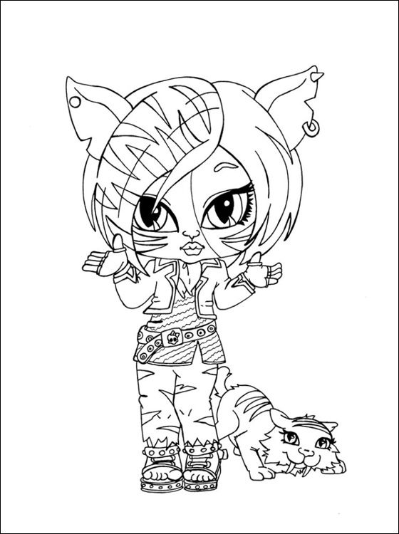 monster high toralei coloring pages toralei stripe with sweet fangs monster high coloring and printable