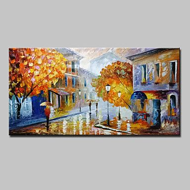 Hand Painted Abstract Landscape Oil Painting On Canvas Modern Wall Art With Stretched Frame Ready To Hang – AUD $ 137.39