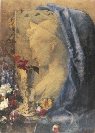 Natura morta con S.Cecilia, Tempera su carta incollata su cartoncino, Milano, Civica Galleria d'Arte Moderna