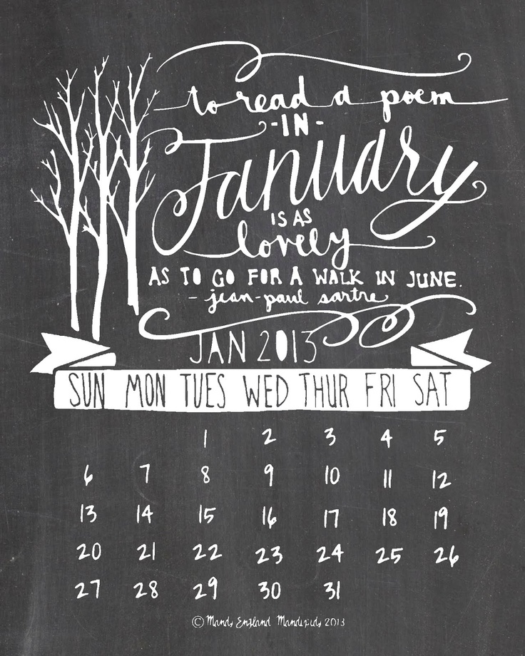 November Chalkboard Calendar Ideas : Best ideas about calendar on pinterest january