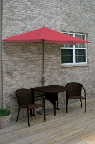 Terrace Mates Genevieve All Weather Wicker In Java 7.5 Ft. Red Olefin Set (  · Outdoor Furniture ...