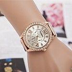 Mujer Reloj de Vestir Reloj de Moda Reloj de Pulsera La imitación de diamante Brillante Cuarzo Aleación Banda Destello Flor Dorado 2017 - $4.99