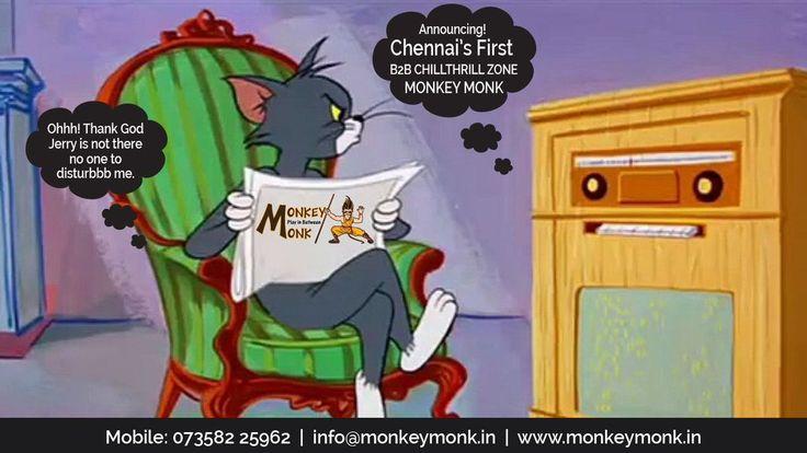 Monkey Monk Adventure Games in Chennai (ECR)  #tomandjerry #tom #jerry #cartoon #memories #adventure #activities #chillthrill #Sports