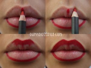 Tips for Lining Your Lips Like a Pro - Full Red Lip tutorial- Easy Tutorials and Awesome Hacks For Lip Liners - Kylie Jenner Tutorials and Black Women Tips - Thin Contouring Tutorials and Hacks for Eye Brows - Natural Shape Eyes - Simple Tricks for How to Apply Pencil Liners and Eyeshadows - thegoddess.com/tips-lining-your-lips